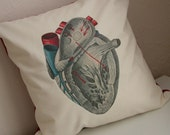 Heart Pillow - Vintage Anatomy