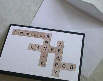 Custom Scrabble Card