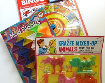 Vintage Dime Store Game & Toys