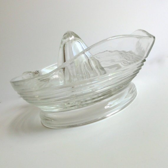 Vintage Juice Reamer - Clear Glass