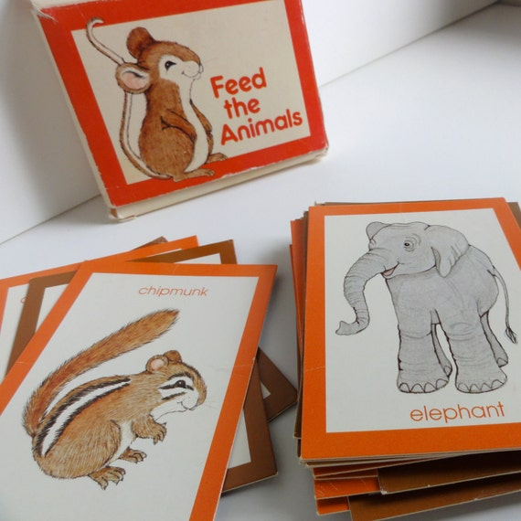 1980 Feed the Animals Matching Game