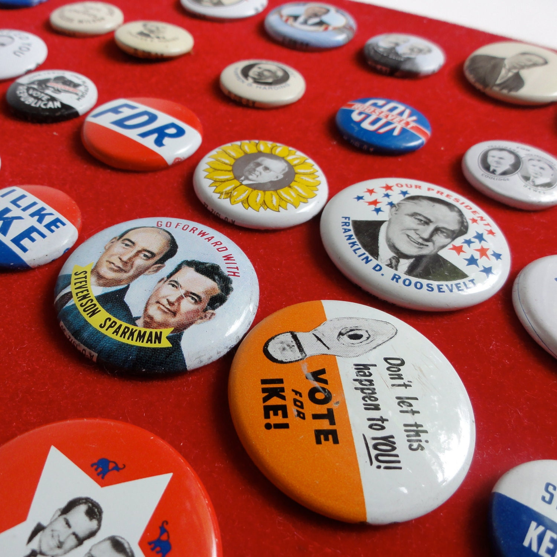 Vintage Political Buttons 1972 Reproduction