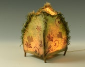 Coming Home -- handmade paper and twig lamp
