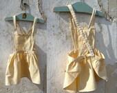 1950/1960 gingham baby dress child apron vintage