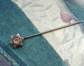 1930 Judaica star neck tie pin brooch