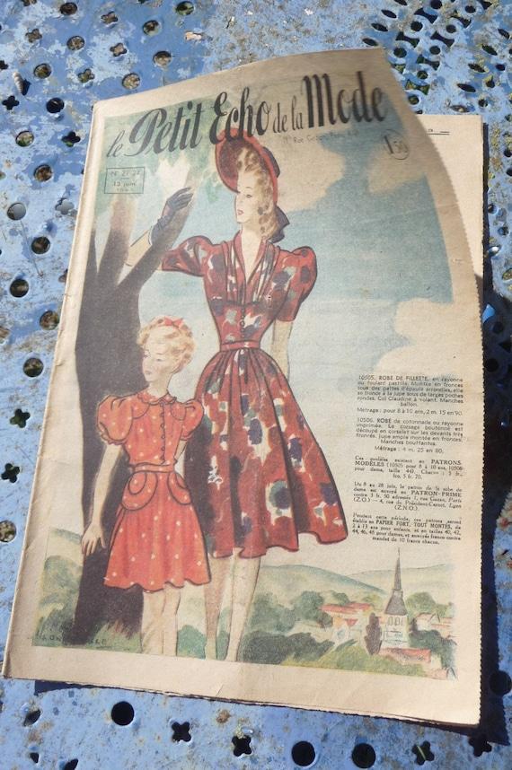 Le petit echo de la Mode 13 of  June1943 french Fashion Issue