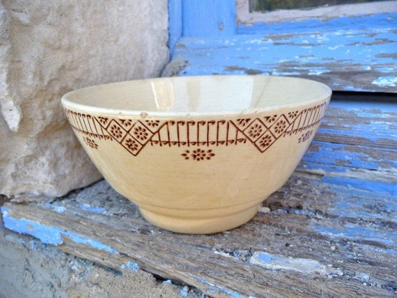 Dated 1900s/1920s French Cafe au lait bowl ceramic