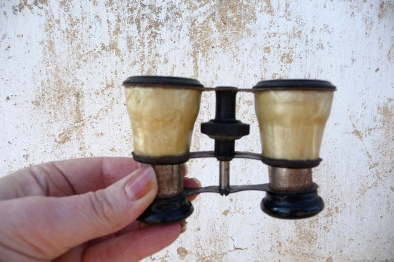 Antique french faux mother of pearl Opera theater glasses