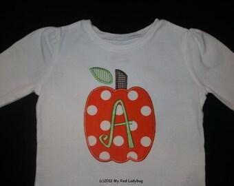 Fall Pumpkin Applique Bodysuit or T-Shirt Boy/Girl