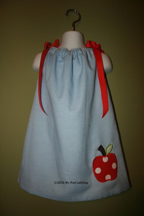 Monogrammed Back to School Pillowcase Dress/Top