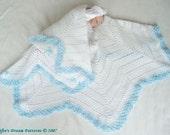 CROCHET PATTERN For Baby Christening Star Shawl Blanket Afghan PDF 8 Digital Download