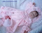 KNITTING PATTERN for baby Matinee Jacket, Trousers Pants, Bonnet Knitting Pattern 2 Sizes PDF 60 Digital Download