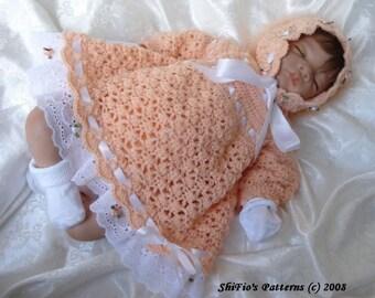 CROCHET PATTERN For Baby Angel Dress, Pants, Bonnet Crochet Pattern PDF 11