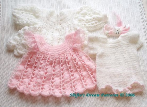 Baby Sweater Dress Knitting Pattern Crochet Pattern For Baby Dress