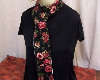 Pocket Scarf Rose Flannel and Organic Cotton PS107