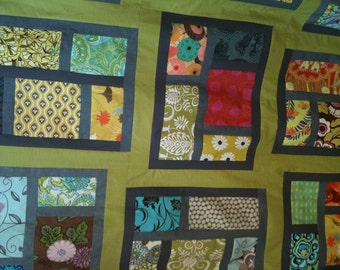 52x48 Quilt Top ......Kitchen Window Quilt Top   SALE SALE SALE