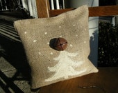 Burlap Tree with a Bell Pillow