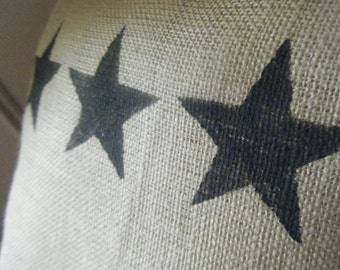 Stars and Stripes of Burlap Pillow Slipcover
