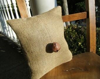 Burlap Bell Pillow