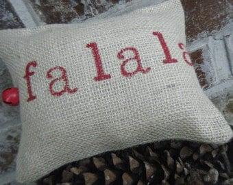 Burlap Pillowette of Fa La La