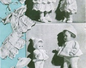 """Vintage Dolls Outfits for 7"""" Doll, & Dolls Outfit for 10"""" Doll, Knitting Pattern, 1950/1960 (PDF) Pattern, Bestway 2369"""