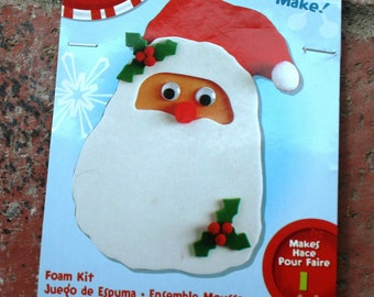 Easy to Make Foam Christmas Kit--Santa