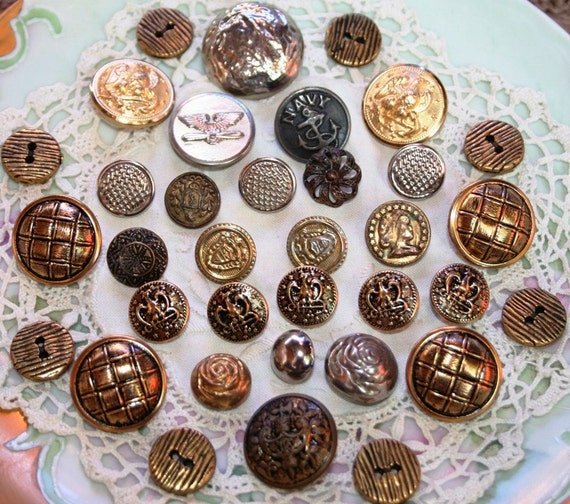 Assorted Metal Buttons