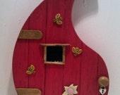 Magical wooden fairy doors by fairyrade.