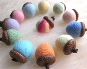 For Kathy - 30 Cashmere Acorns - Bowl Fillers - Made to Order - Home Decorations Maine oak acorns ornaments with Cashmere