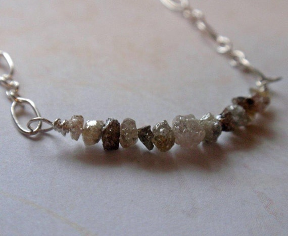 Diamonds in the Rough Sterling Silver Necklace