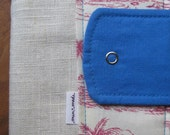25 percent off linen and cotton travel passport wallet or notepad case