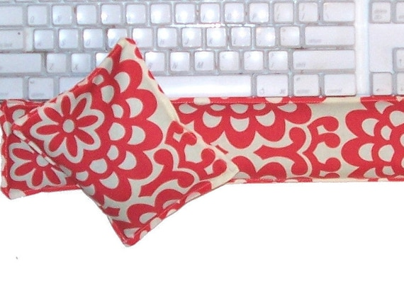 Computer Keyboard Wrist Support Pillow and Mouse Pillow, Hot and Cold Pack,  Flaxseed Only, Unscented