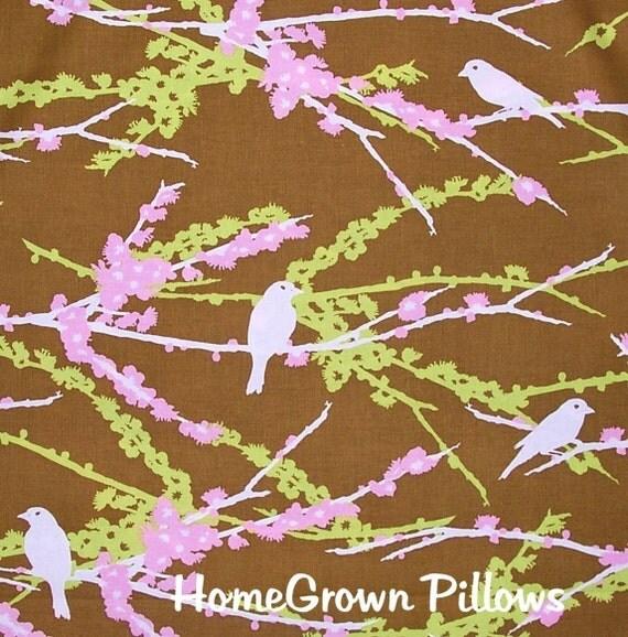 Joel Dewberry Fabric, Sparrows in Dark Green, 1 Fat Quarter
