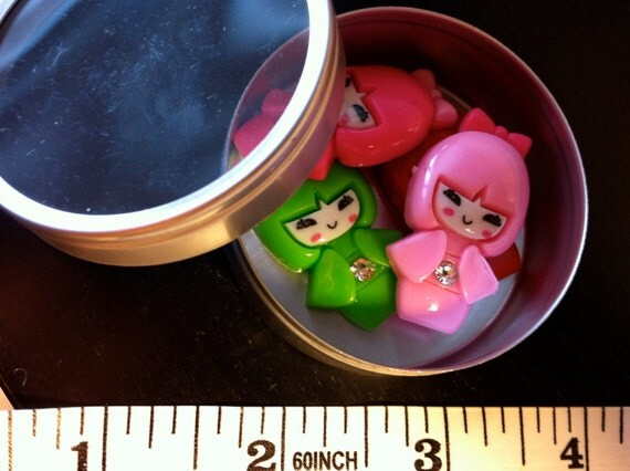 Kawaii cabochon geisha crystal Resin