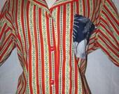 Handmade 70s Vintage California Originals Button Blouse L