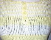 Vintage 70s Honeysuckle Striped Sleeveless Knit Shell