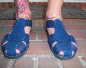 Vintage Sand and Sun Denim Gladiator style Sandals Stretch