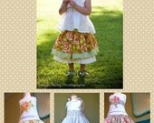 Edith Twirl Skirt PDF Sewing Pattern Instructions for Girls 2T - 6