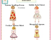 "Jona Giammalva Doll Combo 1 (4 patterns) 18"" and baby doll pdf pattern e-book"