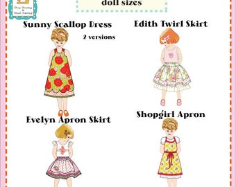 """Jona Giammalva Doll Combo 1 (4 patterns) 18"""" and baby doll pdf pattern e-book, 18 inch doll pattern, sewing tutorial, pdf sewing pattern"""