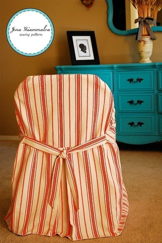 Slipcover Chic Folding Chair Cover Pdf Sewing Pattern E Book