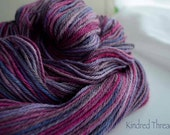 Kawaii Hand painted 70% Alpaca /30 Tussah Silk sport weight yarn