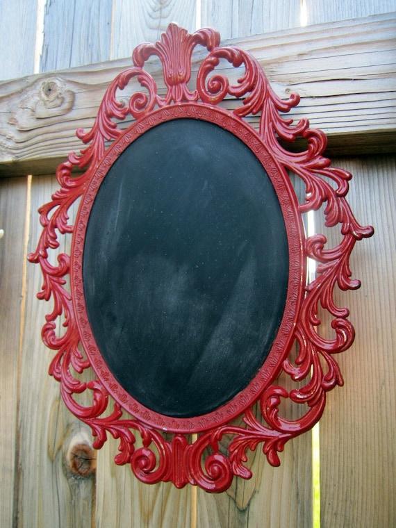 Red Vintage Framed Chalkboard