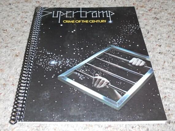 """Supertramp """"Crime of the Century"""" Original Record Album Cover Notebook"""