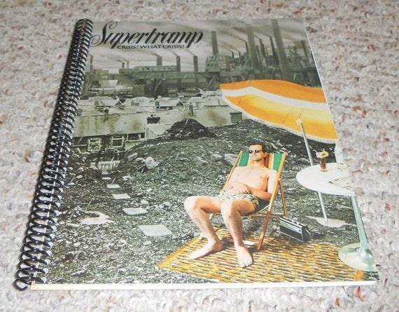 """Supertramp """"Crisis, What Crisis"""" Original Record Album Cover Notebook"""