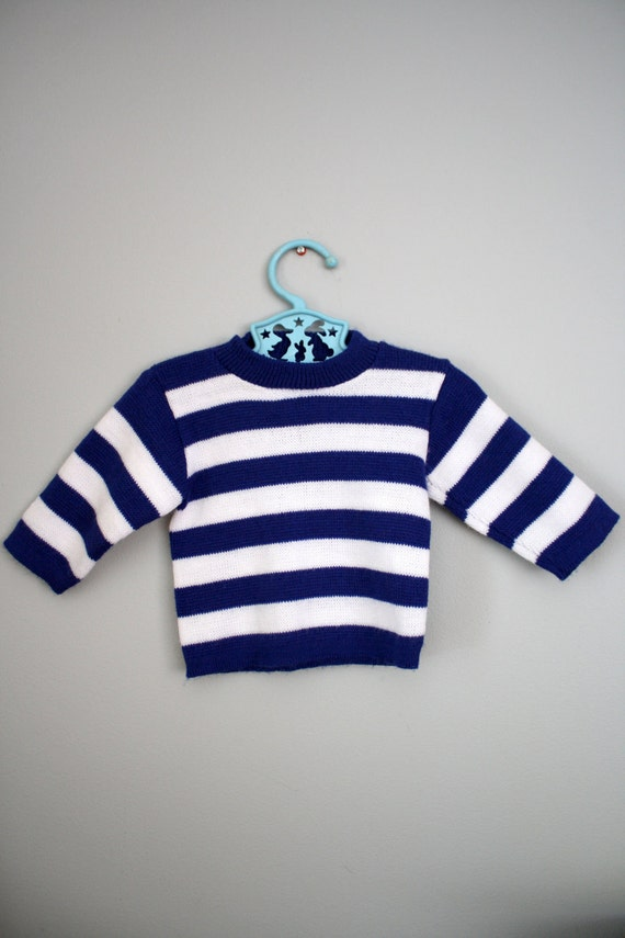 RESERVED Vintage Striped Baby Sweater 6-12 months