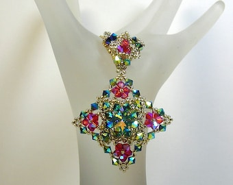 Crystal Stitching Book Project  - Night Shine Pendant (Beads Only) Kit