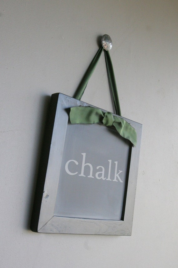Small Black Chalkboard Using Reclaimed Wood Frame, Earth Friendly and Recycled