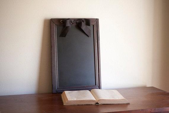 Antique Framed Chalkboard, Wood Framed Chalkboard, Blackboard, Message Board, Recycled