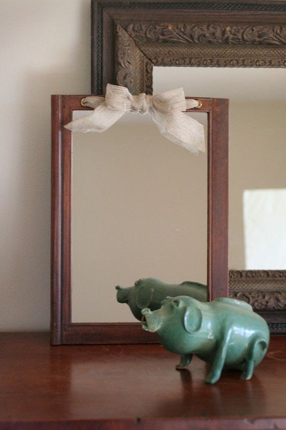 Wall mirror made from antique cabinet door - Cabinet made from old doors ...